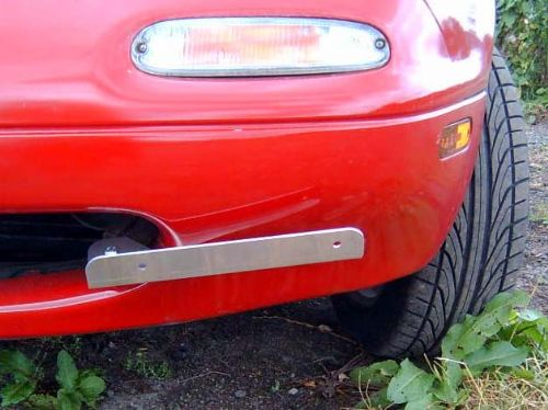 Number plate bracket, JDM offset type, Mazda MX-5 front, with fitting kit
